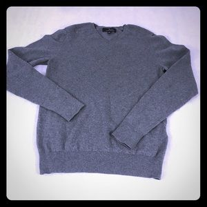 Marc Anthony Men's Cotton Cashmere Gray Sweater